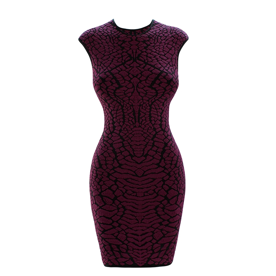 Alligator 3D Jacquard Mini Dress