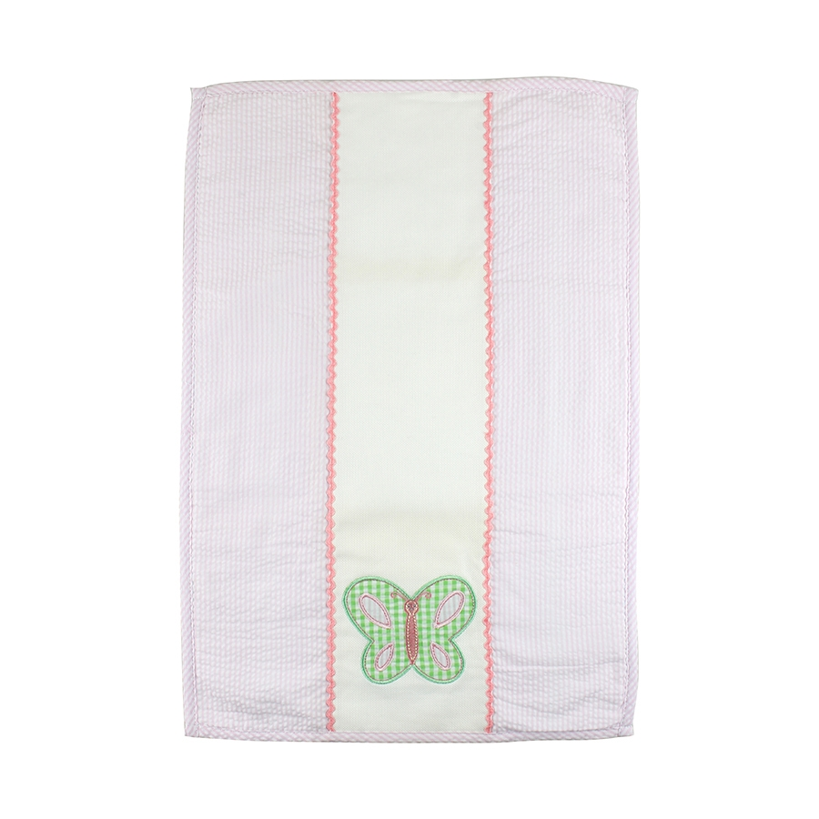 Appliqued Springtime Burp Cloth