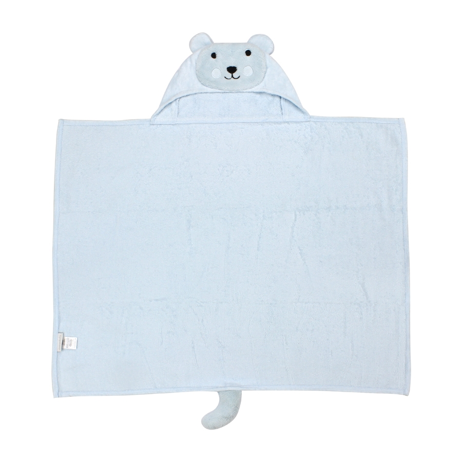 Bear Hooded Baby Bath Wrap