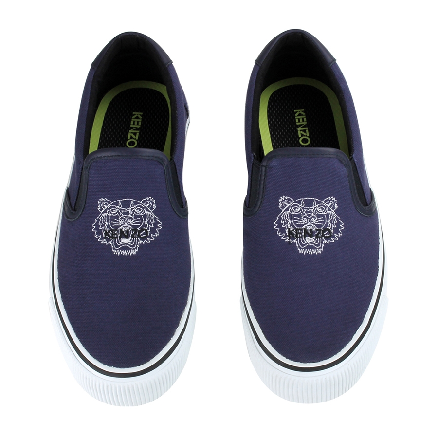 Classic Tiger Slip-On Canvas Sneakers