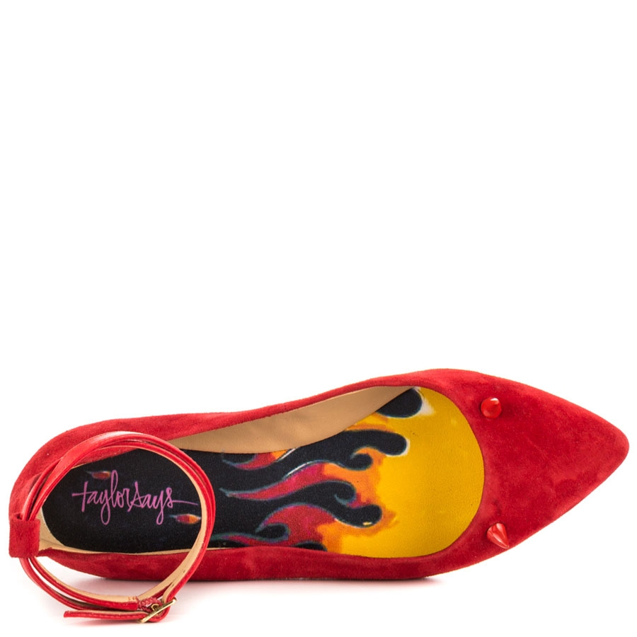Devil Lady Suede Pointy Ballerinas