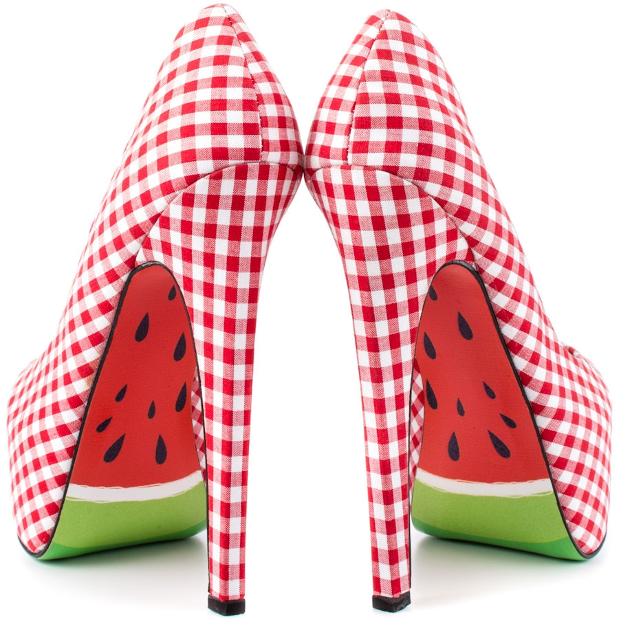 Melons Gingham Fabric Platforms