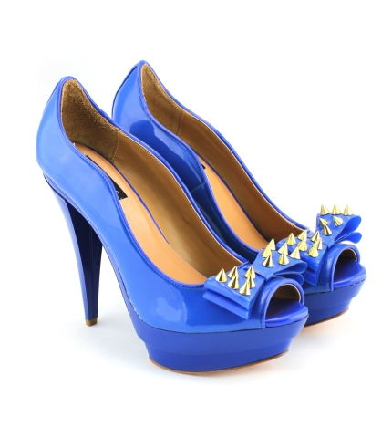 Lauren Spiked Bow Jelly Platforms