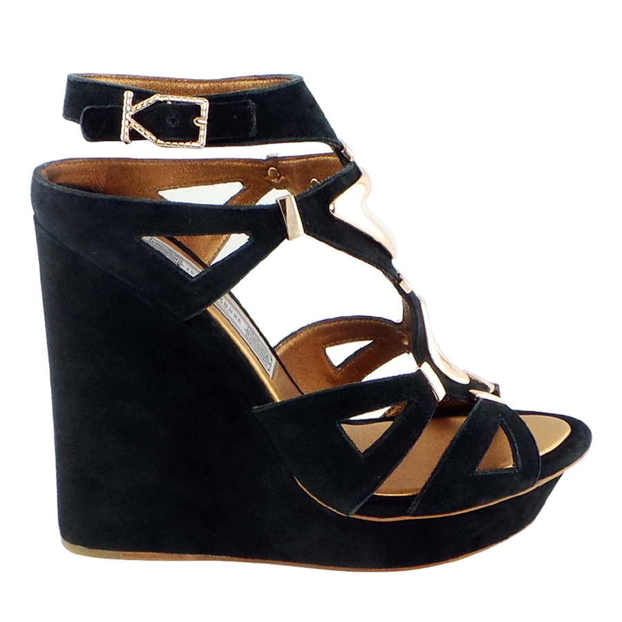 Nile Suede Wedges