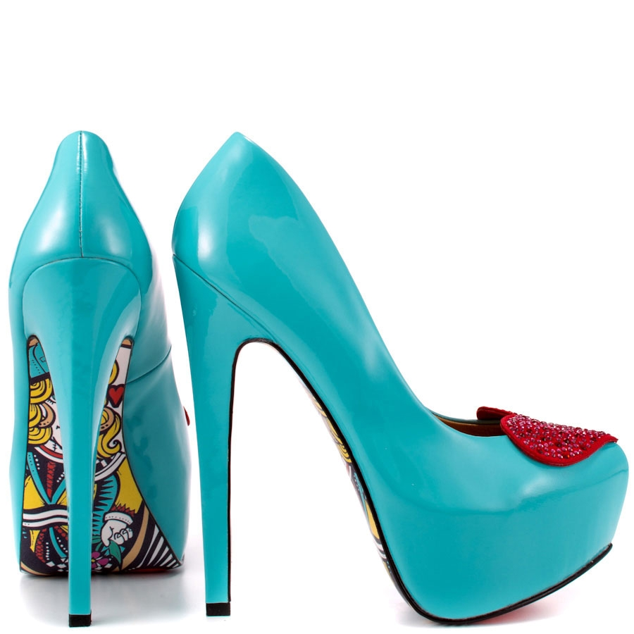 Royal Hearts Patent Leather Platforms