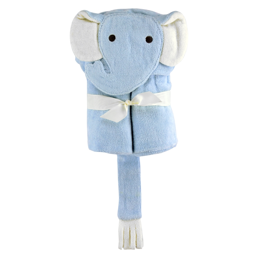 Elephant Hooded Baby Bath Wrap