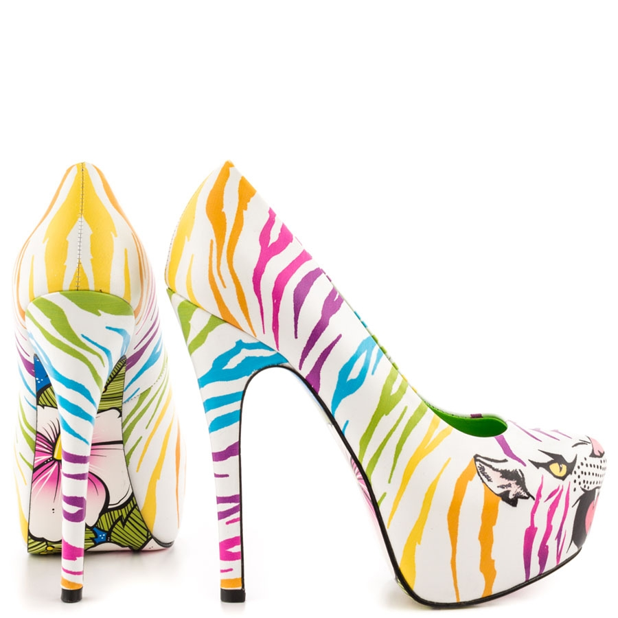 Clara Rainbow Leather Platforms