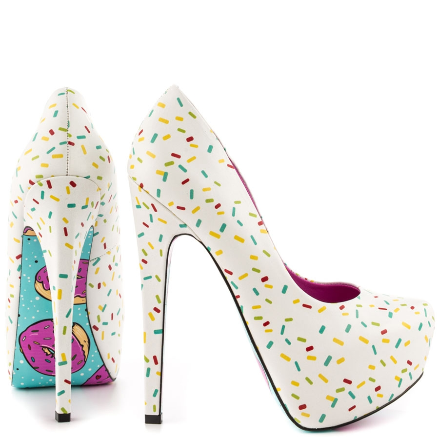 Glazed Sprinkle Leather Platforms