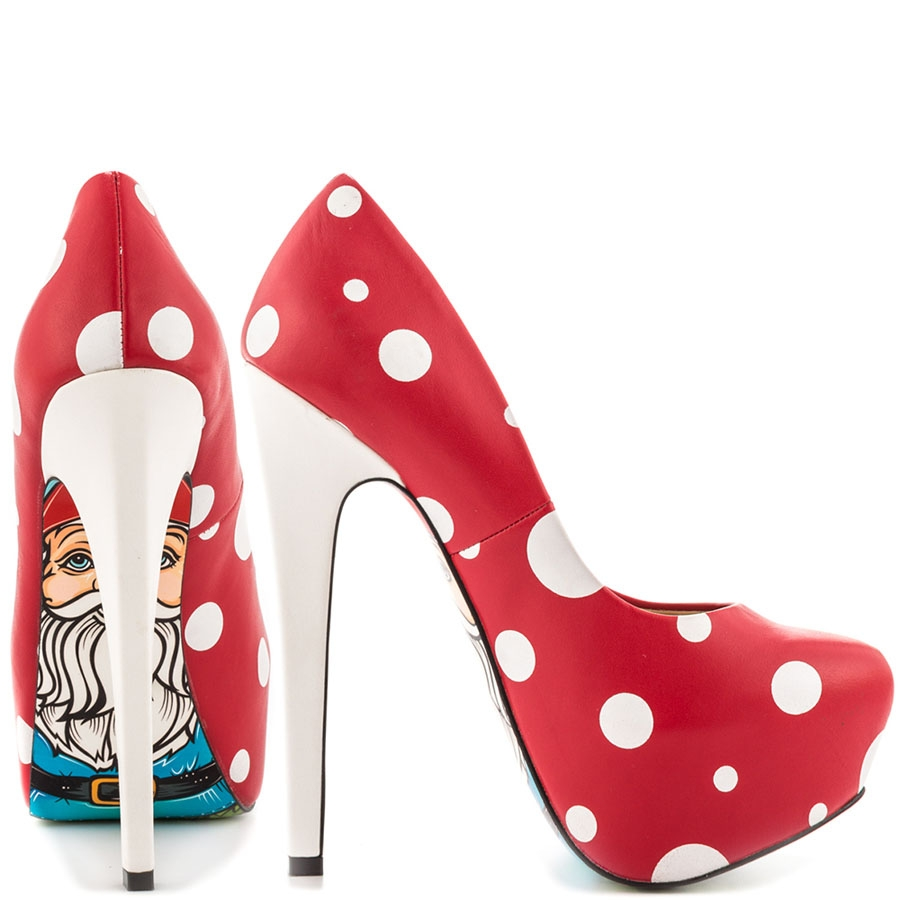 Gnomies Polka Dot Leather Platforms