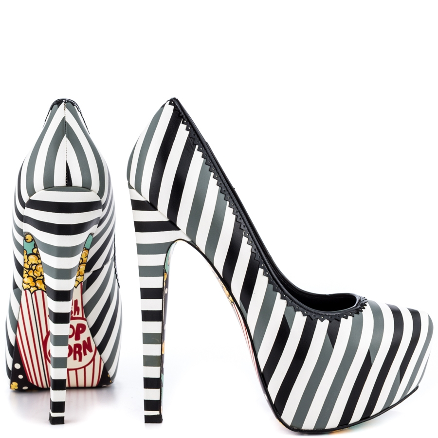 Pop Striped Leather Platforms