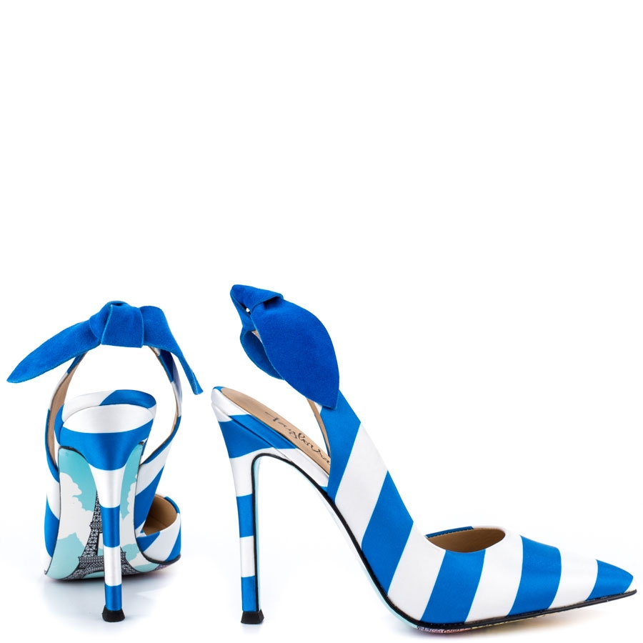 Romantique Satin Striped Stilettos